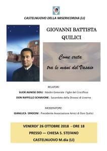Castelnuovo della Misericordia: Giovanni battista Quilici, come creta tra le mani